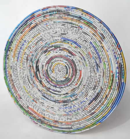 Small Round Newspaper Table Mat