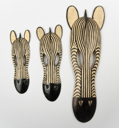 Wooden Animal Masks (Zebra)