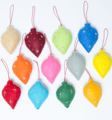 Felt Bauble Decorations