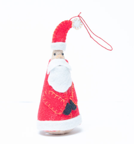 Felt Cone Santa Decorations