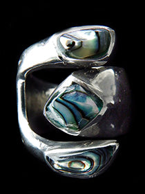 Mexican Triple Abalone Ring - Adjustable