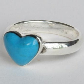 Mexican Ring - Blue Heart