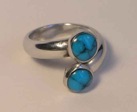 Dual Blue Ring - Adjustable