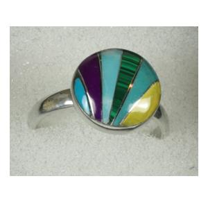 Mexican Ring - Multi Stripe Round
