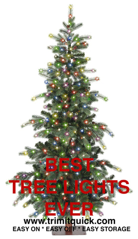 SALE  6-7' Tree Lighting Kit: Incandescent: 1000 Lights: Multi-Color