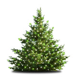 47-Inch Multi-Strand: 150 Lights: Incandescent GREEN & WHITE