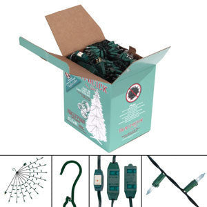 10-12' Tree Lighting Kit: Incandescent: 1950 Total Lights CLEAR