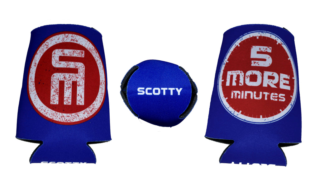 NEW - 5 Minute Blue Koozie