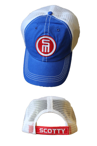 Blue & White Mesh Hat