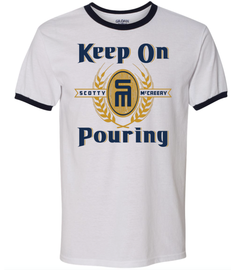 NEW! Keep on Pouring Ringer Tee