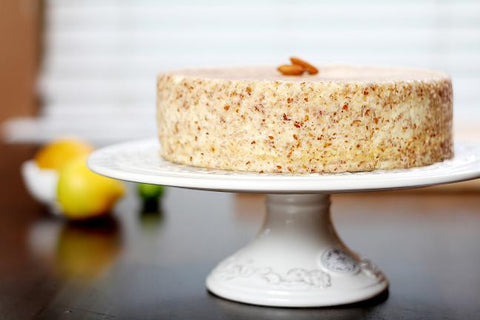 Crust-less Almond Citrus Cheesecake