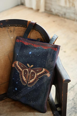 Moths Tote Bag Tovi Sorga's printed leather handbag inspired by Joseph Cornell for the Royal Academy's exhibition