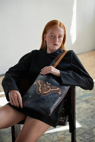 Tovi Sorga's printed leather tote bag inspired by Joseph Cornell for the Royal Academy's exhibition