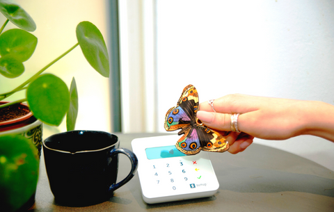 Shop with a butterfly key ring - Tovi Sorga women's leather accessories