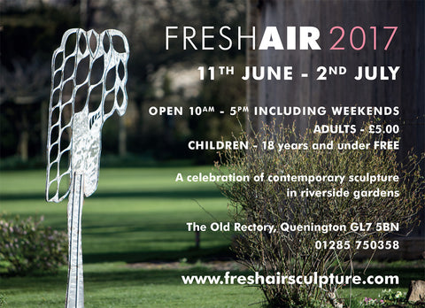 Visit Fresh Air Sculpture Exhibition in Quenington, Gloucestershire to find Tovi Sorga's beautiful leather accessories