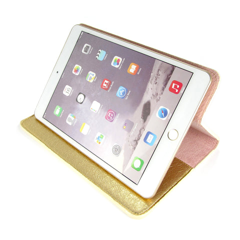 Gold iPad Case - Metallic leather handcrafted by tech accessories designer Tovi Sorga
