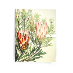 Protea leather notebook, personalised journal Tovi Sorga floral print