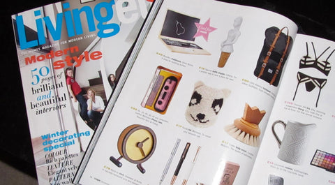 Tovi Sorga printed leather phone case cassette design in Living etc Christmas Gift Guide 2011