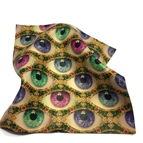 Printed leather design Tovi Sorga Eyes UK