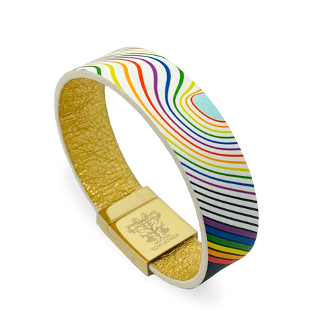 Rainbow bracelet with contactless payment and donations to the NHS Charities Together Fund