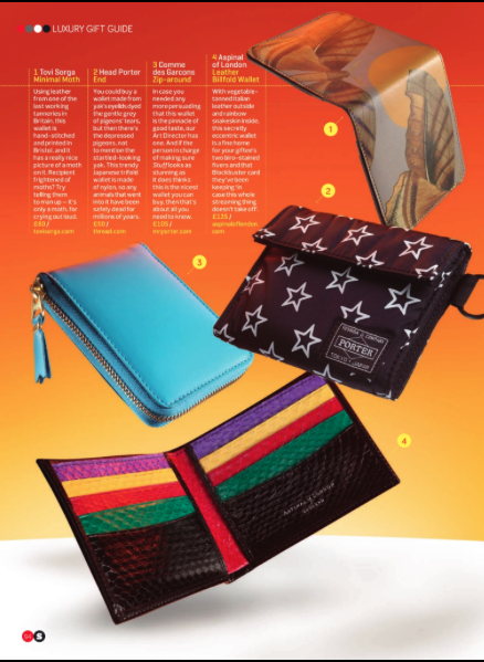 Luxury Wallet Guide Stuff Magazine Comme des Garcons Tovi Sorga Printed Leather