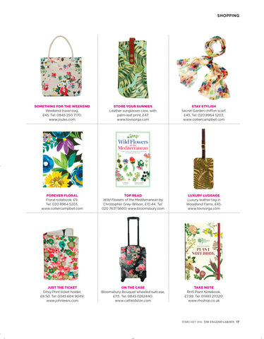 Summer Gift Guide English Garden floral designs Tovi Sorga