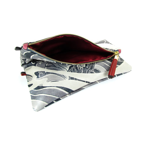 Tattoo print leather foldover clutch bag by Tovi Sorga and David J Watts