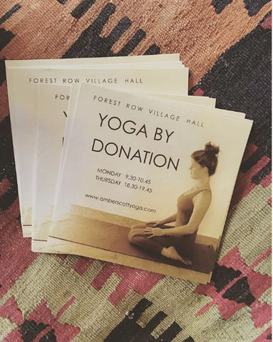 Yoga by donation UK - London & Forest Row teacher Amber Scott's classes come highly recommended