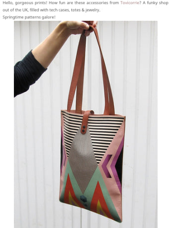 Tovi Sorga printed leather phone tote bag on So Fawned Lifestyle Blog