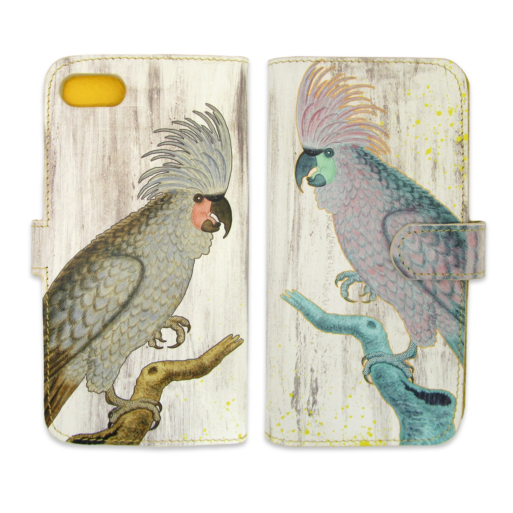 Leather Wallet Phone Case - The Parrots Phone case - Bird phone case -  - Tovi Sorga