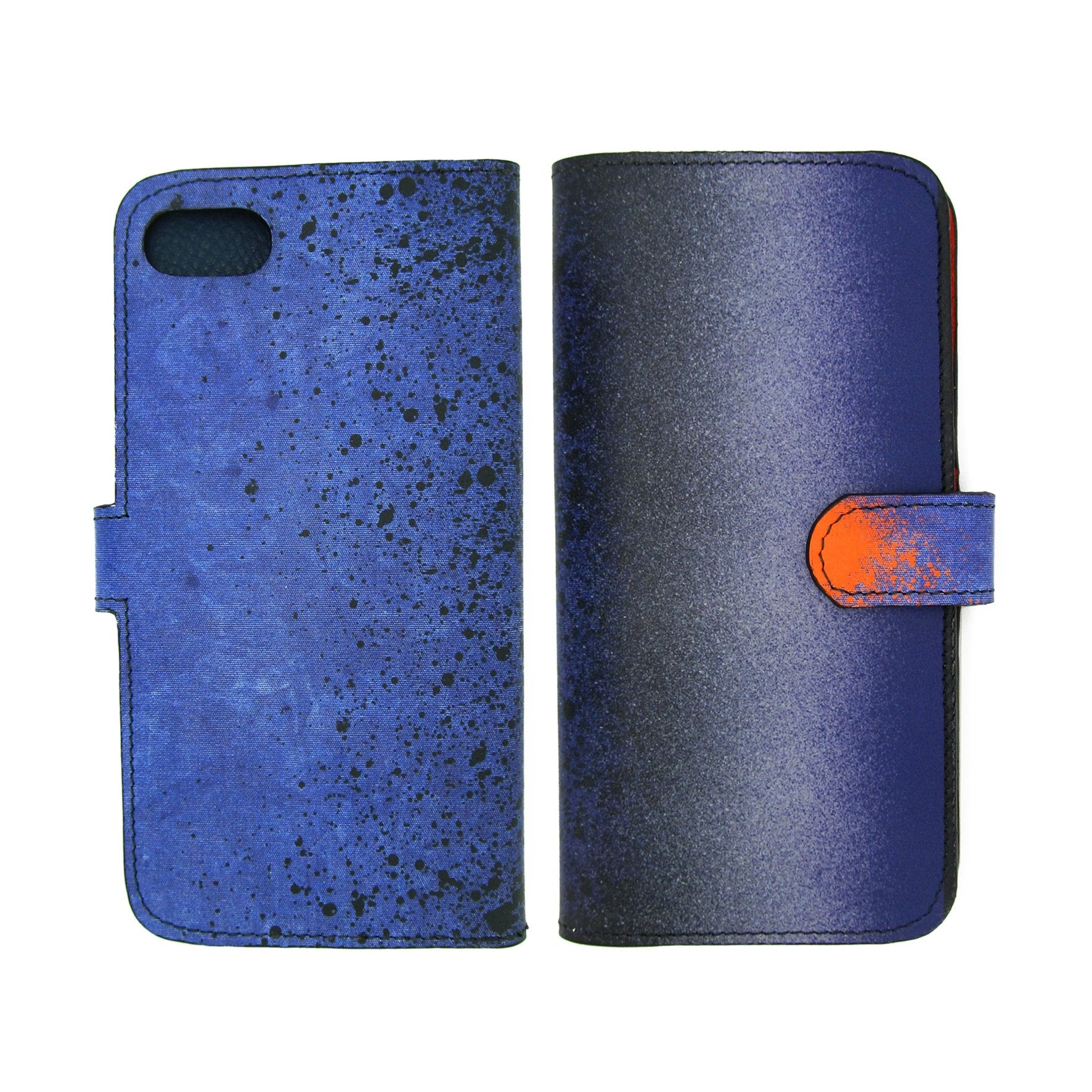 Leather phone case - Blue leather iPhone X Case - iphone xr Case – iphone xs Case – iphone x cover - modern printed designer Smartphone case - Blue phone case - Samsung cases -