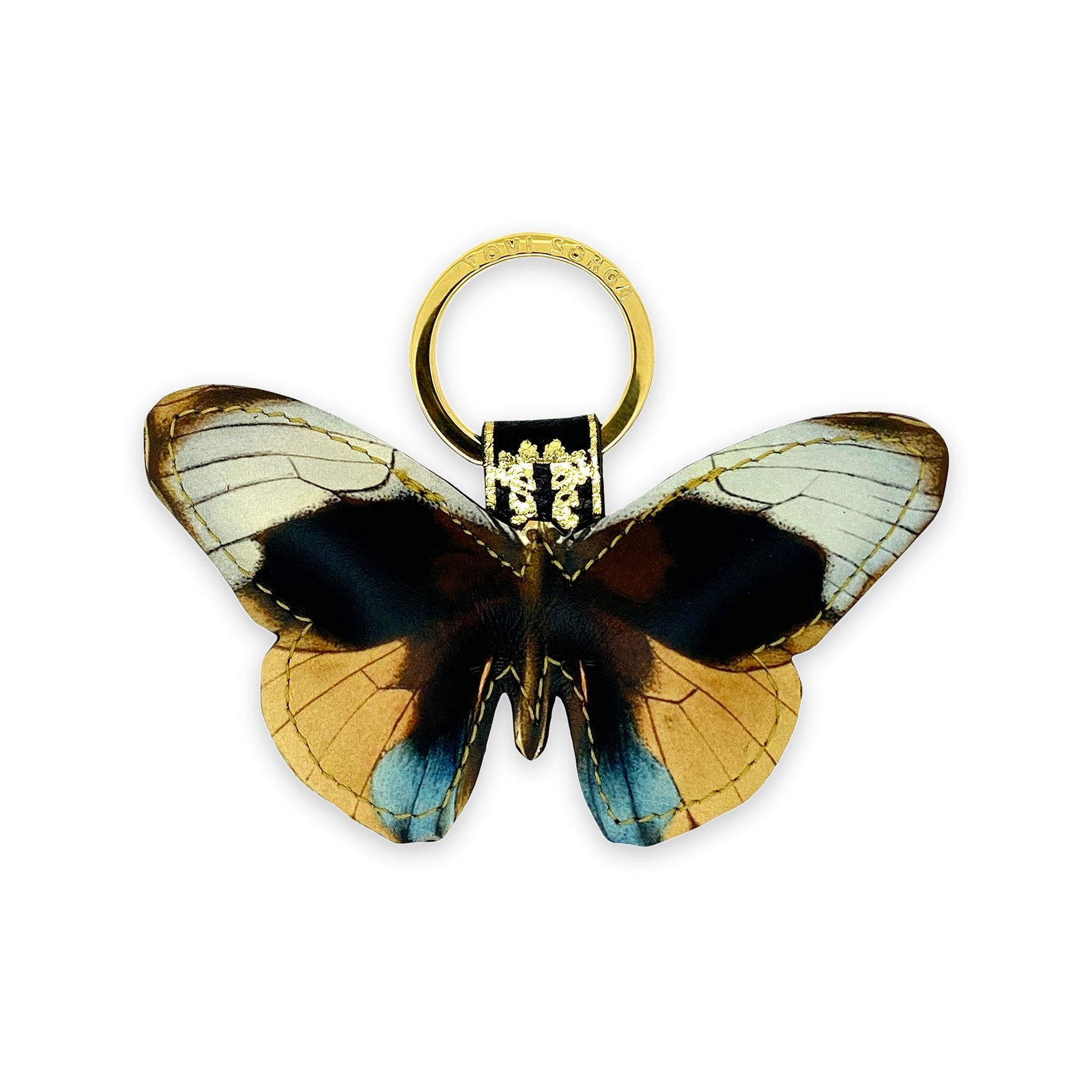 Leather Key Ring - Dusk Butterfly Key Ring / Bag Charm Tovi Sorga