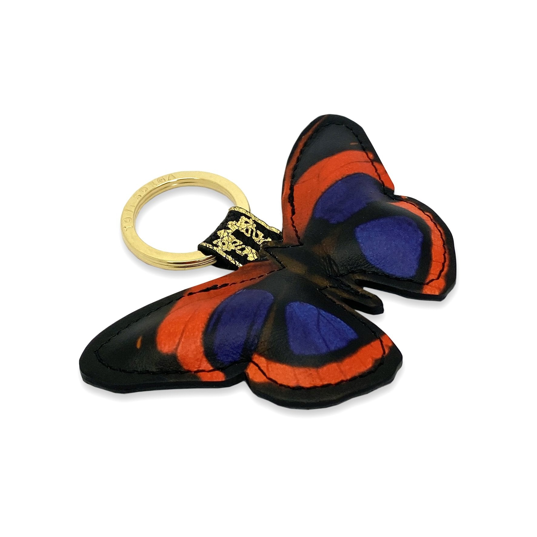 Leather Key Ring / Bag Charm - Kahlo Butterfly Key Ring / Bag Charm Tovi Sorga