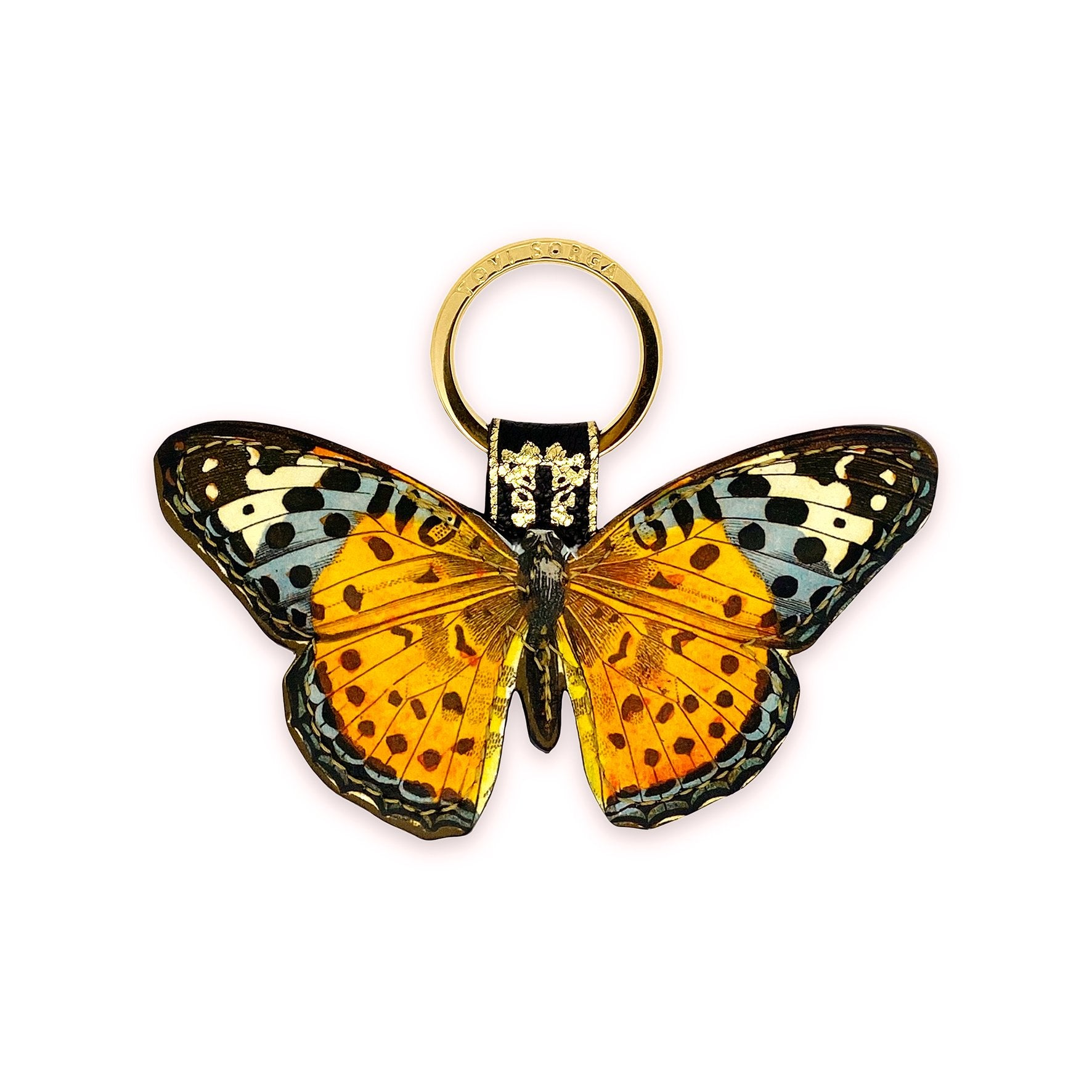 Leather Key Ring / Bag Charm - Marmaduke Butterfly Key Ring / Bag Charm Tovi Sorga