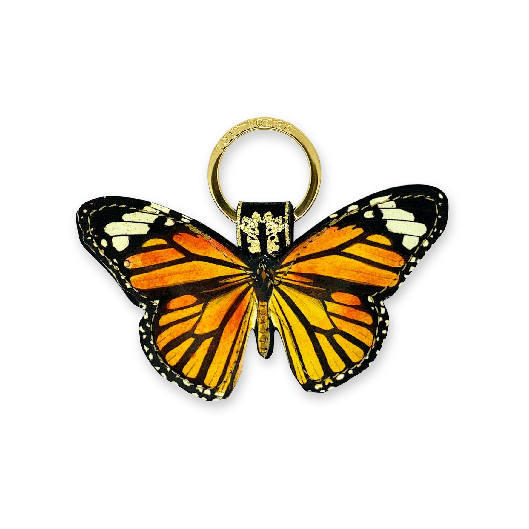 Leather Key Ring / Bag Charm - Monarch Butterfly Key Ring / Bag Charm Tovi Sorga
