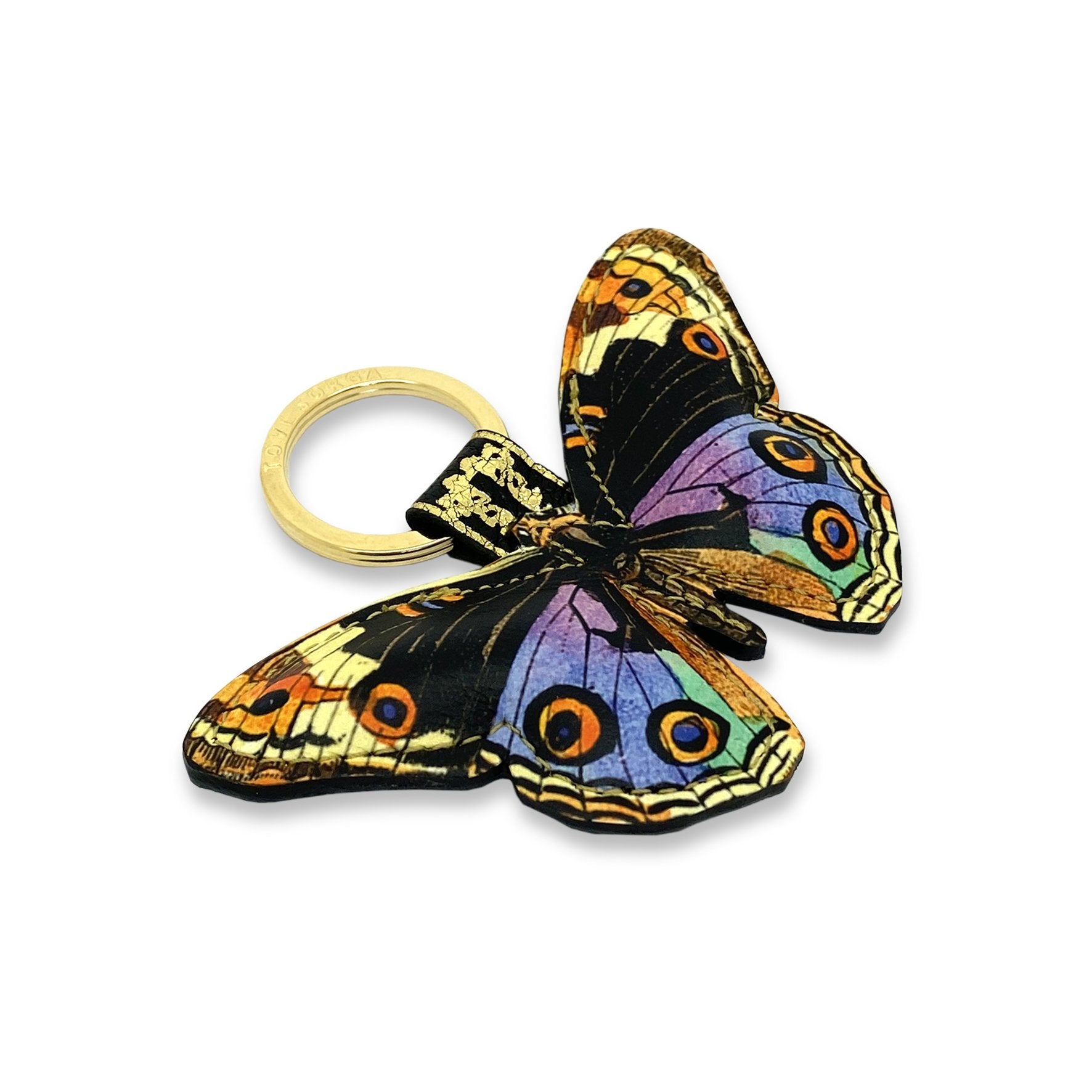 Leather Keyring / Bag Charm - Multicolour Butterfly Key Ring / Bag Charm Tovi Sorga