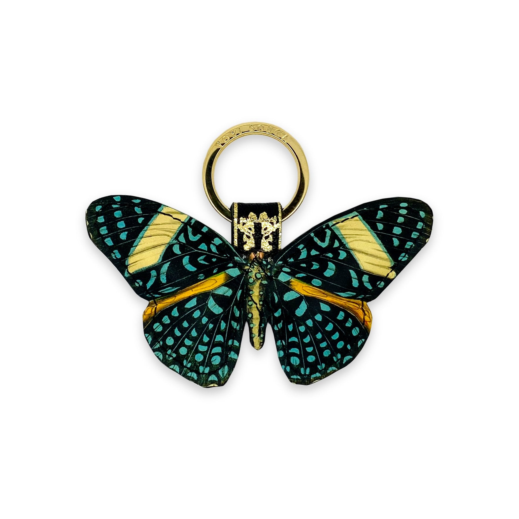 Leather Key Ring / Bag Charm - Speckled Gem Butterfly Key Ring / Bag Charm Tovi Sorga