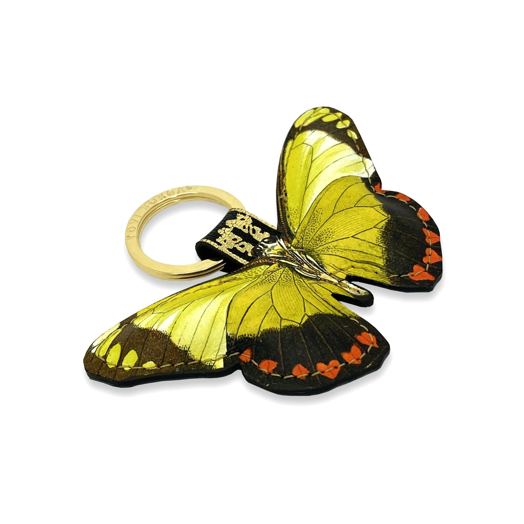 Leather Key Ring / Bag Charm - Valentine Butterfly Key Ring / Bag Charm Tovi Sorga