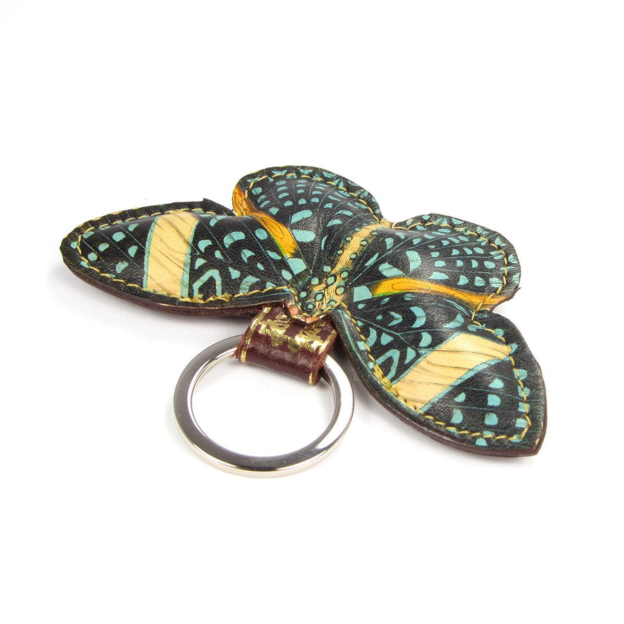 Leather butterfly key ring: British leather goods shop Tovi Sorga