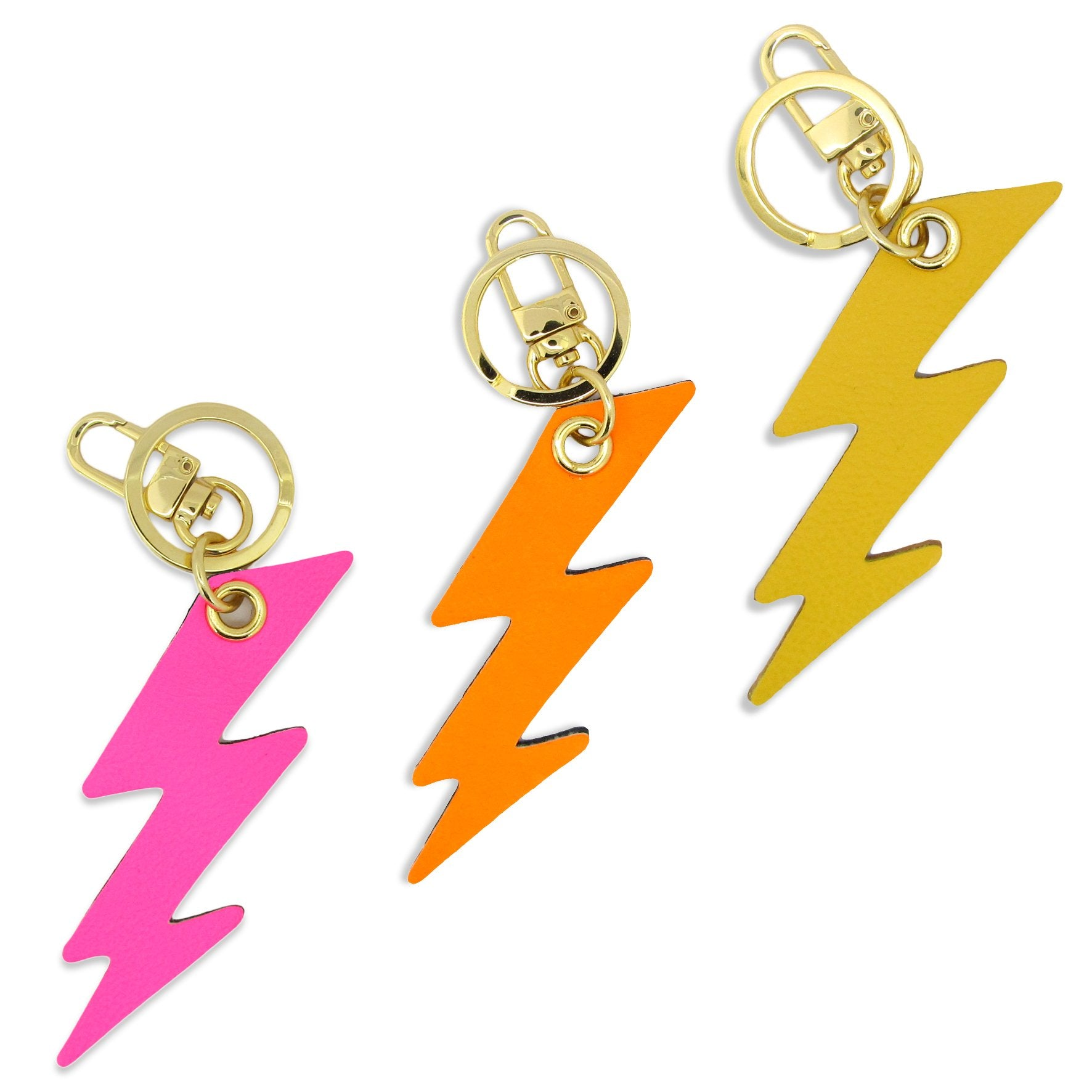 Leather Key Ring / Bag Charm - Lightning Bolt Key Ring / Bag Charm Tovi Sorga