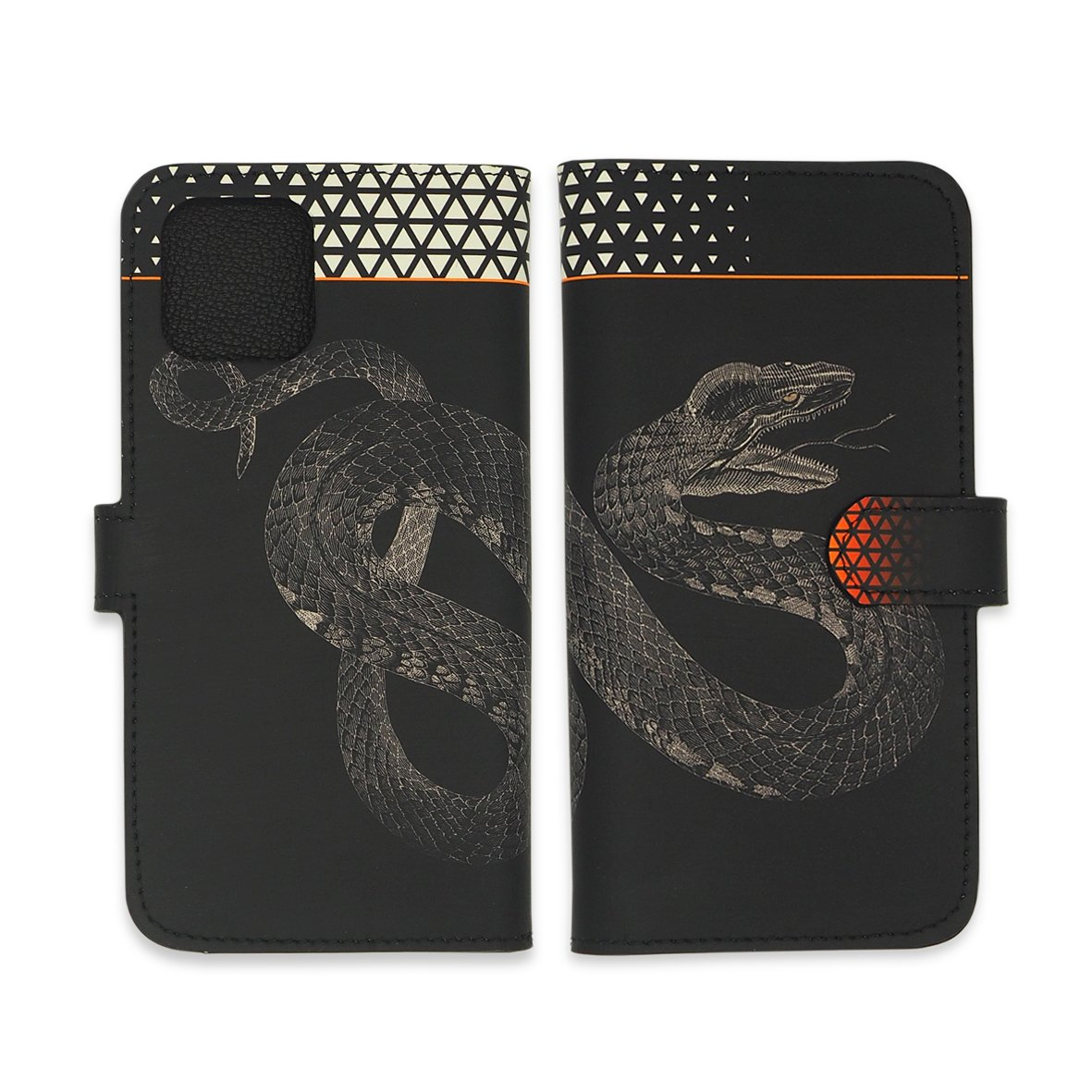 Leather Wallet Folio Phone Case - Black Snake Phone case Tovi Sorga