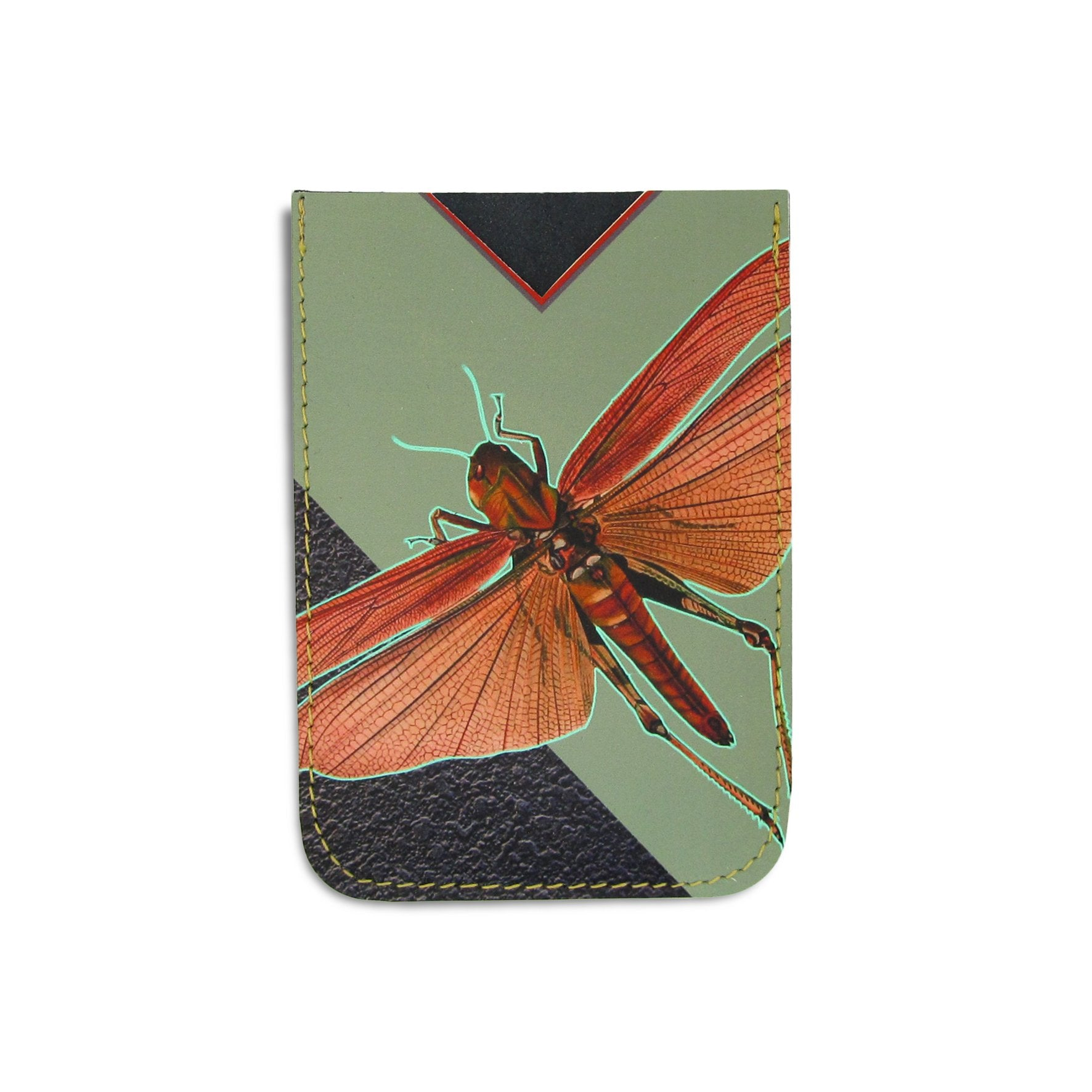 Leather Card Holder / Phone Sticker Wallet Pocket - Locust Wallet Tovi Sorga Standard Card Holder Without personalisation Green