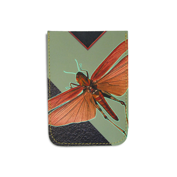 Leather Card Holder / Phone Sticker Wallet Pocket - Locust