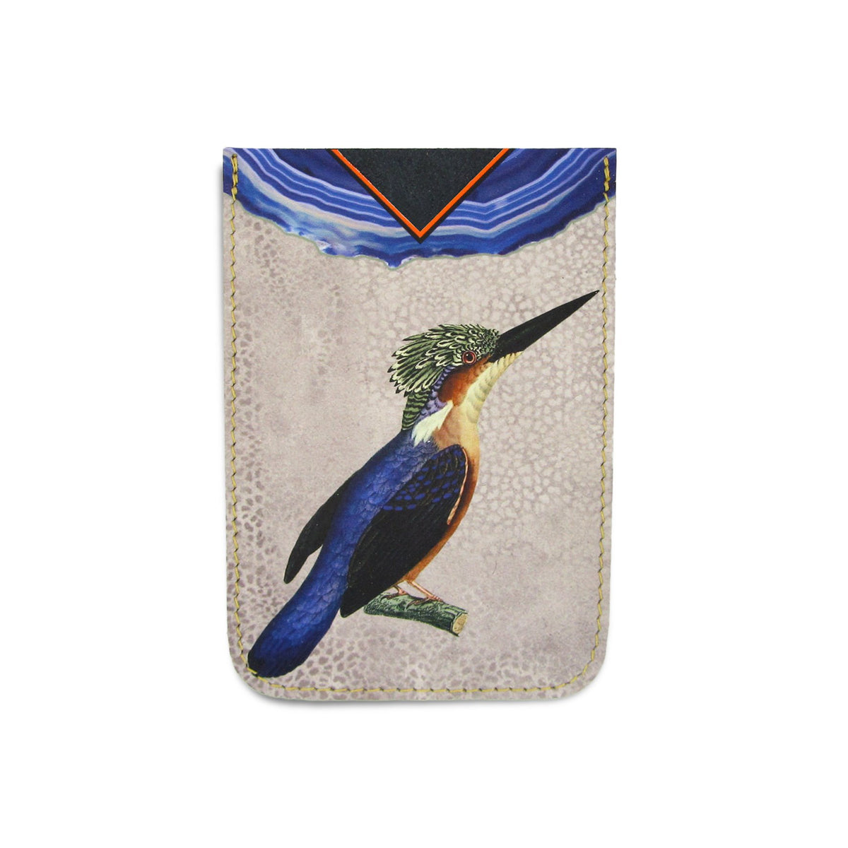 Leather Card Holder / Phone Sticker Wallet Pocket - Kingfisher Wallet Tovi Sorga Standard Card Holder Without personalisation Blue