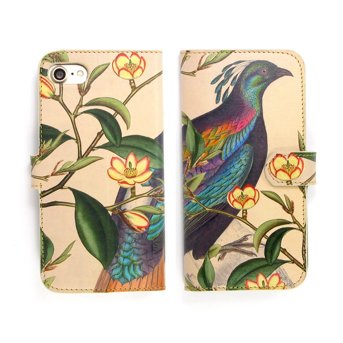 phone wallets - iphone 11 leather case - iphone 11 pro max - iPhone 8 - iPhone XR case - iPhone XS phone case - iPhone XS Max phone case - Pink designer phone case by Tovi Sorga - Birds and flowers