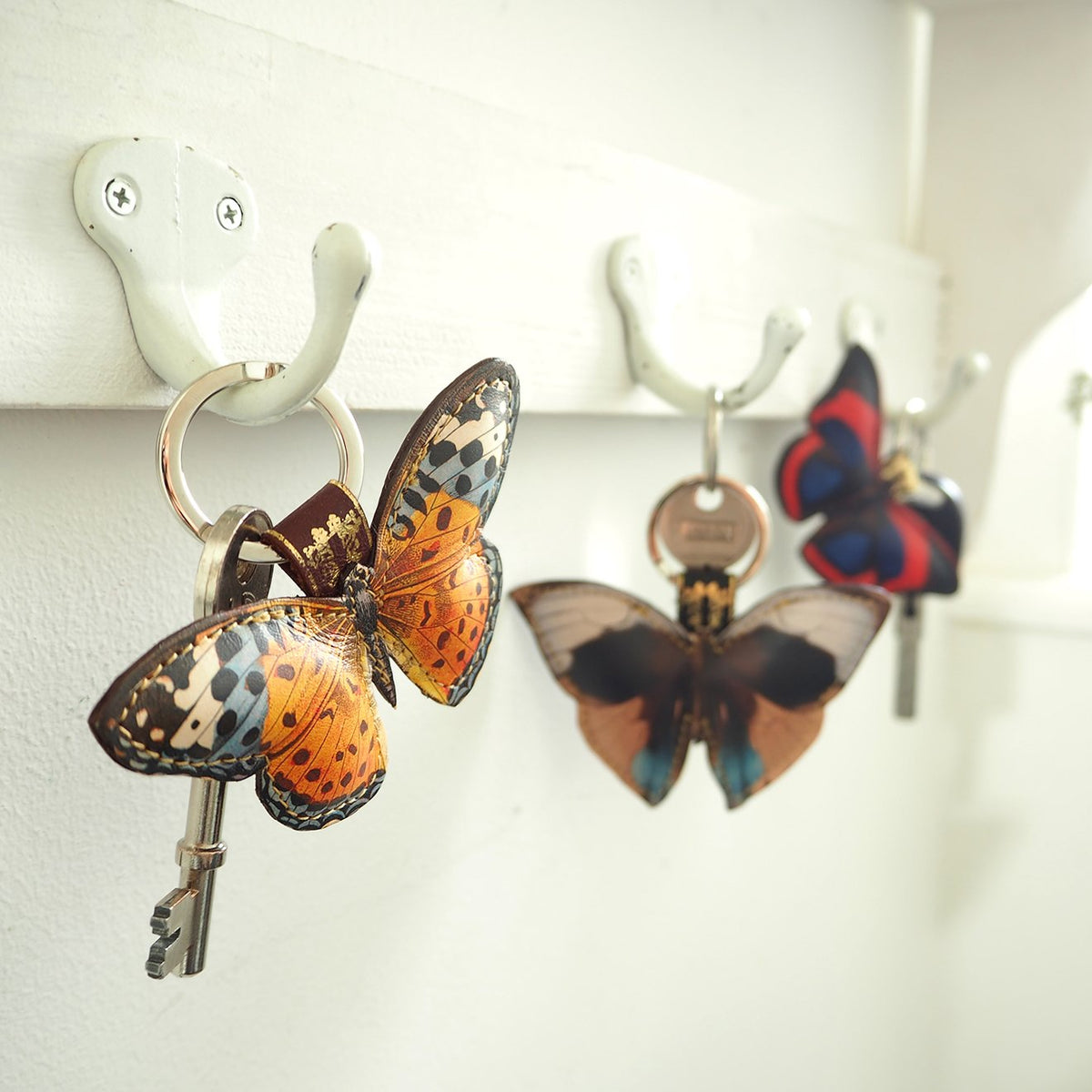 Butterfly key rings and key chains: Nature gifts for women by UK designer Tovi Sorga