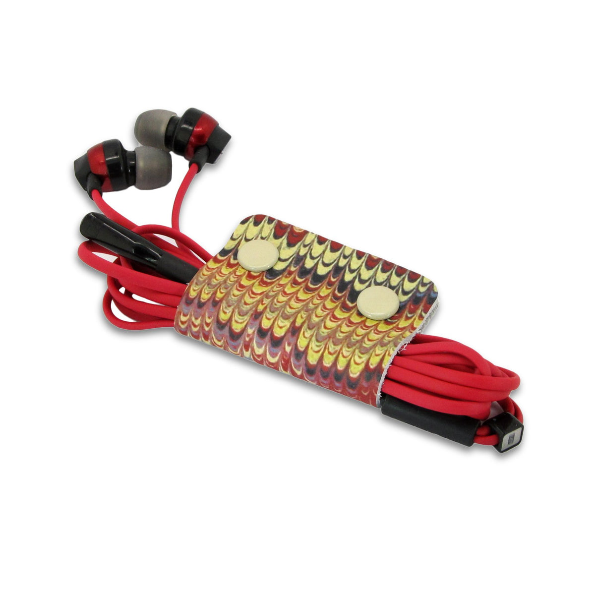 Leather Cable Tidy / Headphone Holder: Classic Wrap Cable Tidy Tovi Sorga Marbling 1 Single Cable Tidy Multicolour