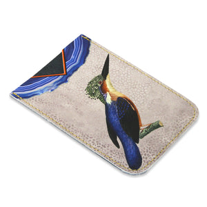 Leather Card Holder - Kingfisher