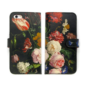 Leather iPhone X case floral designer Rachel Rusch print Tovi Sorga