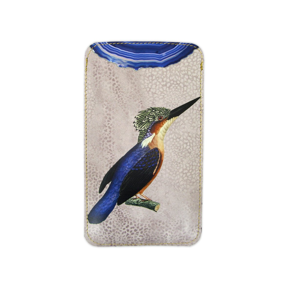 Leather Phone Case Sleeve - Kingfisher Phone case Tovi Sorga iPhone XR No personalisation Blue